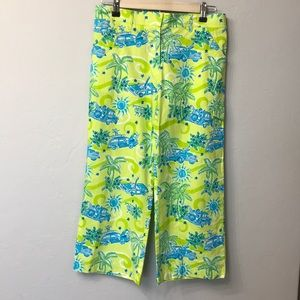 Lily Pulitzer Capri pants size 6. Yellow and blue